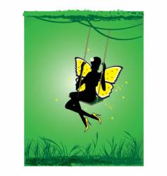 beautiful fairy vector image