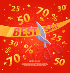 Best sale banner original concept discount poster vector