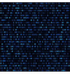Binary background with blue digits vector