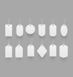 blank paper price tags set vector image