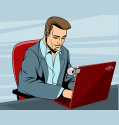 businessman in the workplace vector image