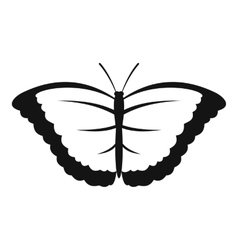 Butterfly with big wings icon simple style vector