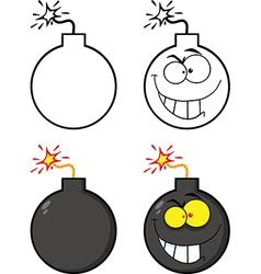 Cartoon bombs vector