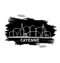 Cayenne french guiana city skyline silhouette vector