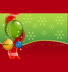 christmas ornaments background vector image