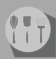Cuisine utensils object to used in the kitchen vector