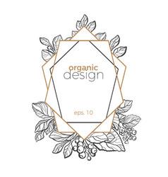 design template symbol frame vector image