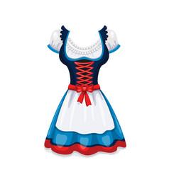 dirndl dress folk female costume vector image