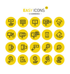 easy icons 41c internet earnings vector image