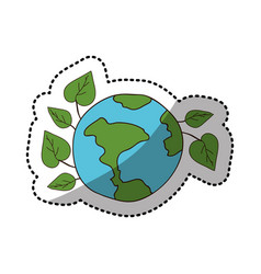 ecology earth icon stock vector image