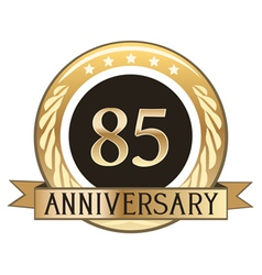 Eighty Five Year Anniversary Badge vector image