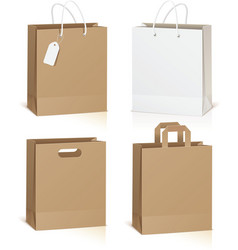 Empty shopping bag isolated on white background vector