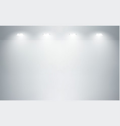empty studio room interior white wall and floor vector image