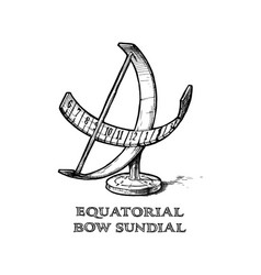 Equatorial bow sundial vector