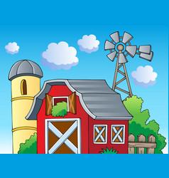 Farm theme image 2 vector