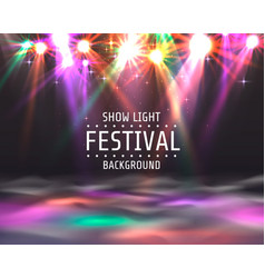 festival show light dance floor banner vector image
