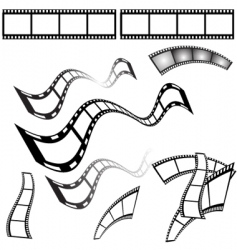 Film shapes vector