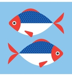 Fish flat style vector