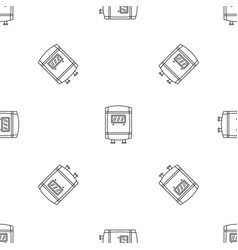 gas boiler icon outline style vector image