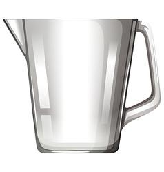 Glass beaker with handle vector image
