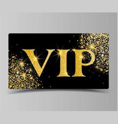 golden vip party premium card vector image