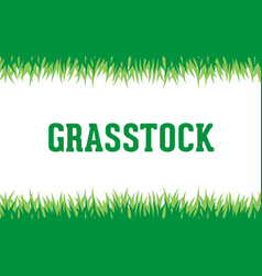 grass logo background vector image