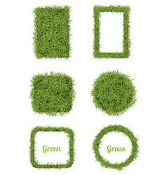 Green Grass Background and Frame Set vector