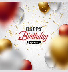 Happy birthday design with balloon vector