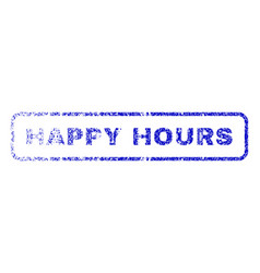 Happy hours rubber stamp vector