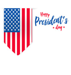 happy presidents day background or banner vector image