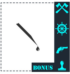 hypodermic icon flat vector image
