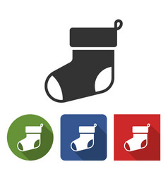 Icon christmas stocking eye vector