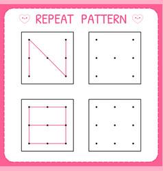 Kindergarten educational game for kids repeat vector