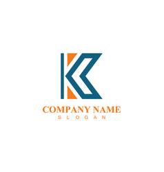 letter k company logo vector image