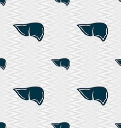 Liver sign Seamless pattern with geometric texture vector image
