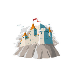 medieval castle on hill vector image