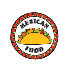 mexican food icon traditional cuisine of mexico vector image