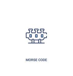 Morse code concept 2 colored icon simple line vector