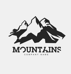 mountains abstract logo for adventure vector image