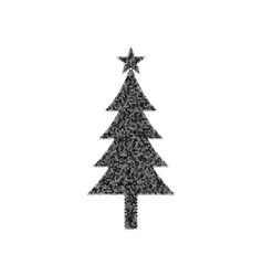 New year tree sign black icon from many vector