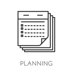 planning isolated icon time management and vector image