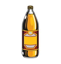 Plastic bottle lager beer vector
