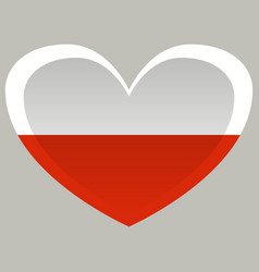poland flag official colors and proportion vector image