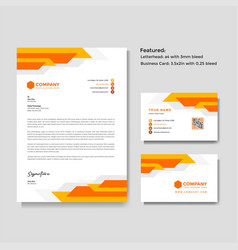 Professional creative letterhead and business vector