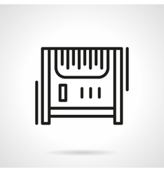 Radiator heater black line icon vector image