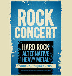 rock concert retro poster design template vector image