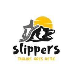 sandal or mountain shoe logo vector image