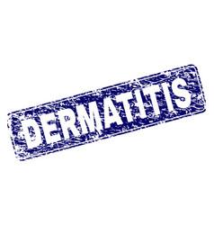 Scratched dermatitis framed rounded rectangle vector