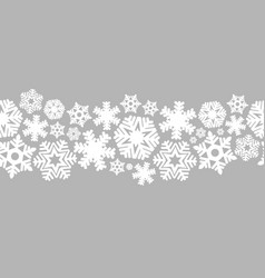 seamless snowflakes on a silver background vector image