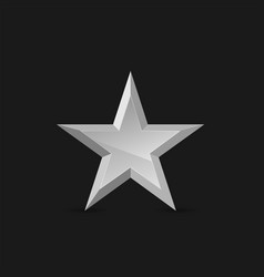 silver star label vector image